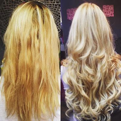 nadogradnja plave kose